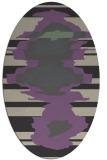 rug #697597 | oval purple graphic rug