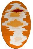 rug #697609 | oval orange rug