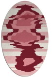 rug #697630 | oval graphic rug