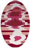 rug #697637   oval pink abstract rug