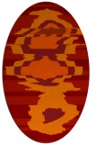 rug #697661 | oval red graphic rug