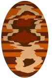 rug #697677 | oval red-orange graphic rug