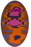 rug #697681 | oval red-orange abstract rug