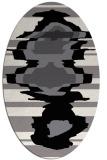 rug #697689   oval black graphic rug