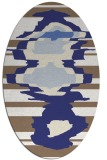 rug #697697   oval white abstract rug