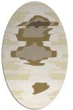 rug #697709 | oval white abstract rug