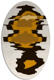 rug #697713 | oval brown rug