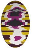 rug #697717 | oval yellow rug