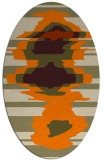 rug #697733   oval orange graphic rug