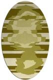 rug #697737 | oval light-green rug