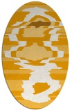 rug #697753 | oval light-orange graphic rug