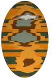 rug #697761 | oval light-orange abstract rug