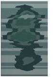 rug #697841 |  blue-green abstract rug
