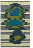 rug #697897    blue-green abstract rug