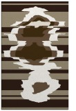 rug #697909 |  mid-brown graphic rug