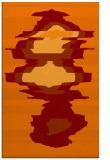 rug #697957    orange abstract rug