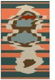 rug #697965 |  orange graphic rug