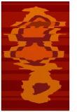 rug #698013 |  orange abstract rug