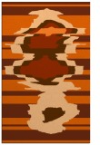 rug #698029 |  red-orange abstract rug