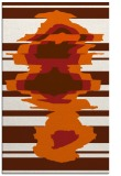 rug #698037 |  red-orange abstract rug