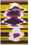 rug #698069    yellow abstract rug