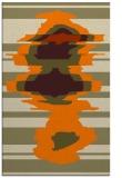 rug #698085 |  orange abstract rug