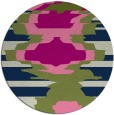 rug #698157 | round green abstract rug
