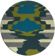 rug #698249 | round green graphic rug