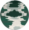 rug #698253 | round green abstract rug