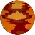 rug #698309   round orange abstract rug