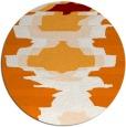 rug #698313 | round orange rug