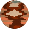 rug #698321 | round red-orange abstract rug