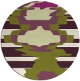 rug #698349 | round green abstract rug
