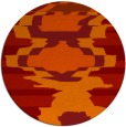 rug #698365 | round orange abstract rug