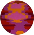 rug #698373 | round red abstract rug