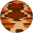 rug #698381 | round red-orange rug