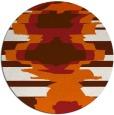 rug #698389 | round red-orange graphic rug