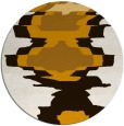 rug #698417 | round brown graphic rug