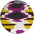 rug #698421 | round yellow rug