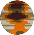 rug #698437 | round orange abstract rug