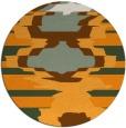 rug #698465 | round light-orange abstract rug
