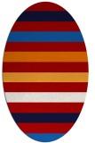 rug #699417   oval red rug