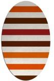 rug #699445 | oval stripes rug