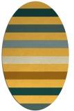 rug #699481 | oval light-orange stripes rug