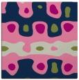 rug #700621 | square blue retro rug