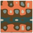 rug #700781 | square orange abstract rug