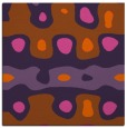 rug #700849 | square red-orange abstract rug