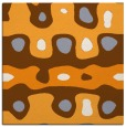 rug #700933 | square light-orange retro rug