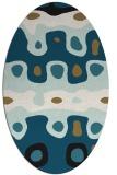 rug #700959 | oval retro rug