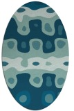 rug #700985 | oval blue-green abstract rug